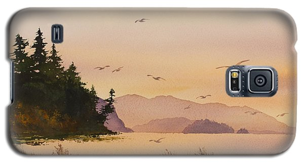 Galaxy S5 Case featuring the painting Autumn Shore by James Williamson