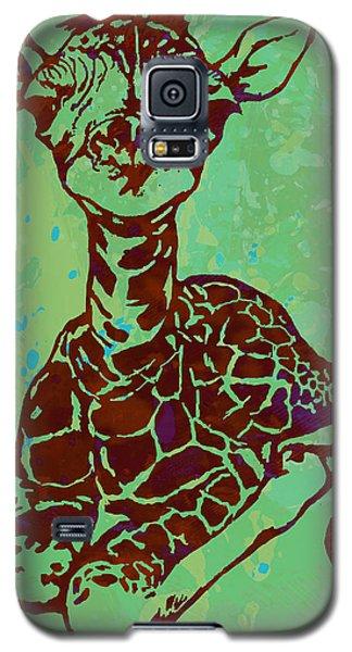 Baby Giraffe - Pop Modern Etching Art Poster Galaxy S5 Case by Kim Wang