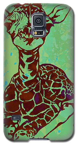 Baby Giraffe - Pop Modern Etching Art Poster Galaxy S5 Case