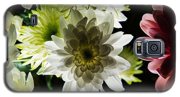 Backlit White Dahlia Galaxy S5 Case