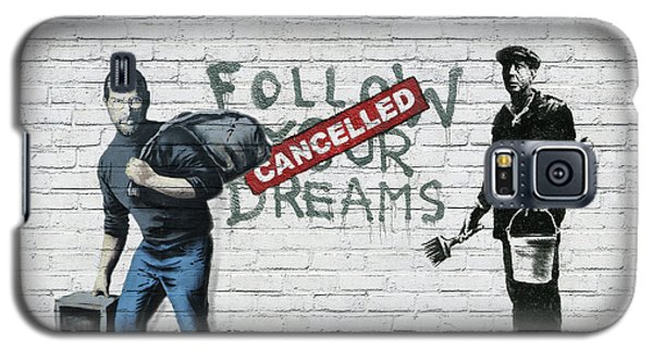 Banksy - The Tribute - Follow Your Dreams - Steve Jobs Galaxy S5 Case