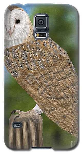 Galaxy S5 Case featuring the digital art Barn Owl by Walter Colvin