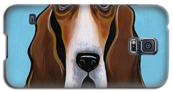 Basset Hound Galaxy S5 Case by Leanne Wilkes