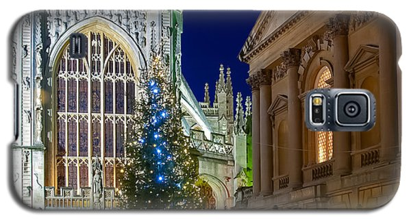 Bath Abbey At Night At Christmas Galaxy S5 Case