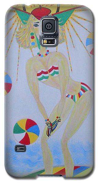 Beach Ball Surfer Galaxy S5 Case by Marie Schwarzer