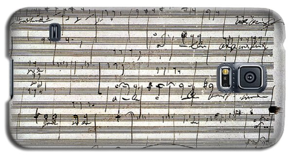Beethoven Manuscript Galaxy S5 Case