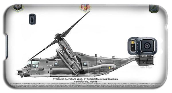Galaxy S5 Case featuring the digital art Bell Boeing, Cv-22b, Osprey by Arthur Eggers