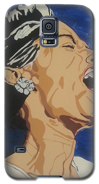 Galaxy S5 Case featuring the painting Billie Holiday by Rachel Natalie Rawlins