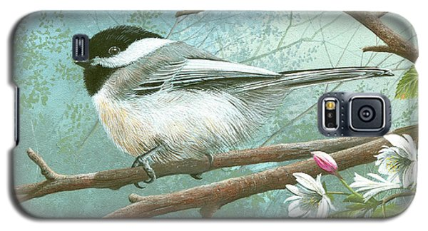 Black Cap Chickadee Galaxy S5 Case by Mike Brown