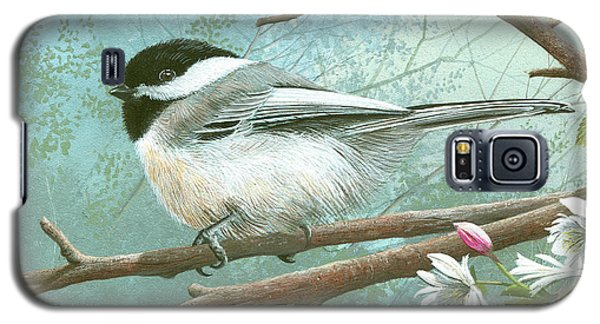 Black Cap Chickadee Galaxy S5 Case