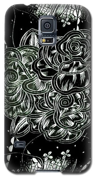 Black Flower Galaxy S5 Case