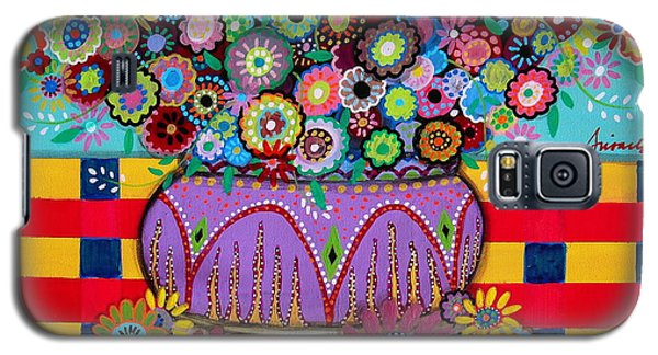Blooms Galaxy S5 Case by Pristine Cartera Turkus