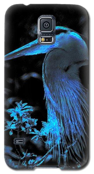 Galaxy S5 Case featuring the photograph Blue Heron by Lori Seaman