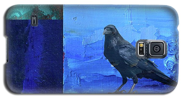 Galaxy S5 Case featuring the digital art Blue Raven by Nancy Merkle