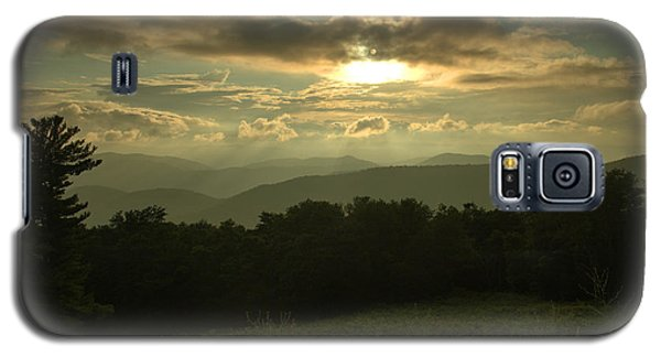 Galaxy S5 Case featuring the photograph Blue Ridge Mountain Sunset by Stephen  Vecchiotti