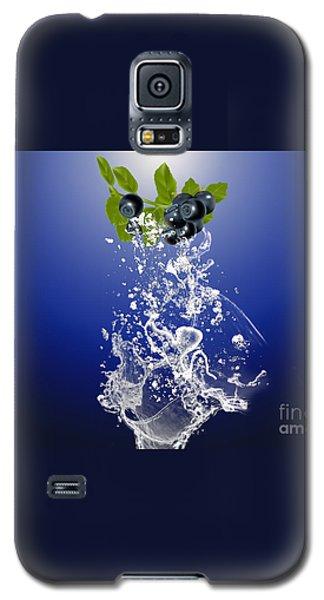 Blueberry Splash Galaxy S5 Case by Marvin Blaine