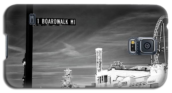 Galaxy S5 Case featuring the photograph 1 Boardwalk Mile by John Rizzuto