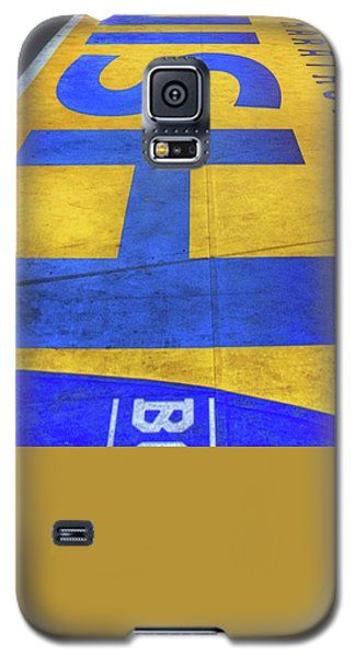 Galaxy S5 Case featuring the photograph Boston Marathon Finish Line by Joann Vitali