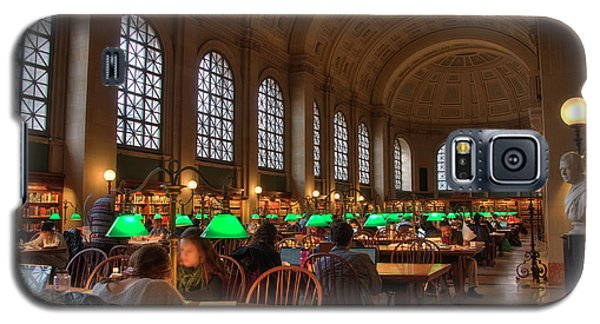 Galaxy S5 Case featuring the photograph Boston Public Library by Joann Vitali