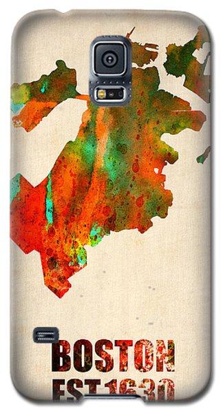 Boston Galaxy S5 Case - Boston Watercolor Map  by Naxart Studio