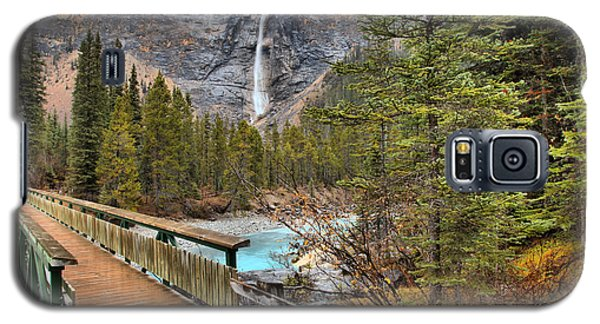 Galaxy S5 Case featuring the photograph Wooden Bridge To Takakkaw Falls by Adam Jewell