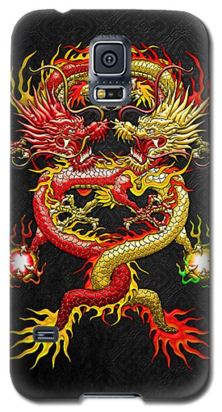 Brotherhood Of The Snake - The Red And The Yellow Dragons Galaxy S5 Case by Serge Averbukh