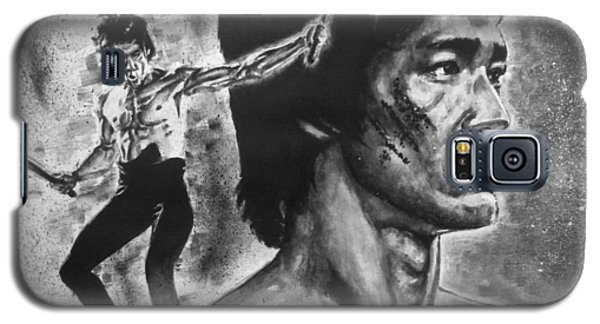 Galaxy S5 Case featuring the painting Bruce Lee by Darryl Matthews