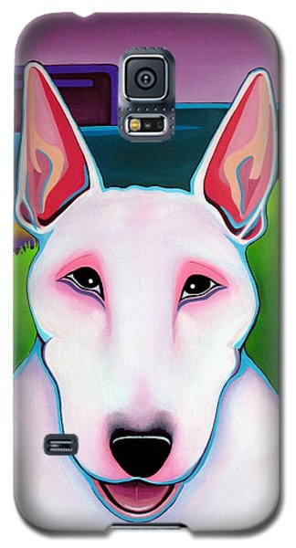 Bull Terrier Galaxy S5 Case by Leanne WILKES