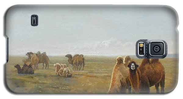 Camels Along The River Galaxy S5 Case