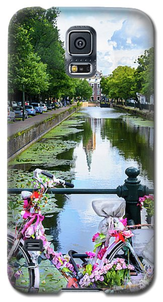 Galaxy S5 Case featuring the digital art Canal And Decorated Bike In The Hague by RicardMN Photography