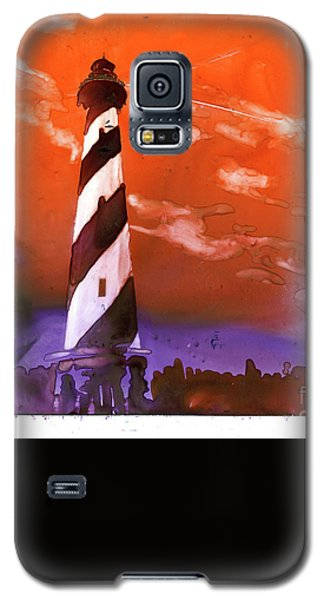 Galaxy S5 Case featuring the painting Cape Hatteras Lighthouse by Ryan Fox