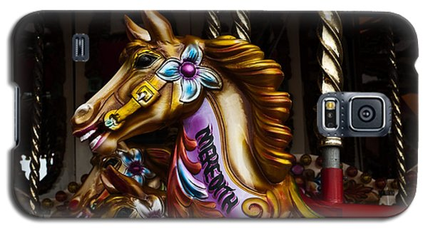 Galaxy S5 Case featuring the photograph Carousel Horses by Steve Purnell