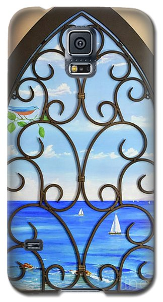 Galaxy S5 Case featuring the painting Cathedral View by Mary Scott