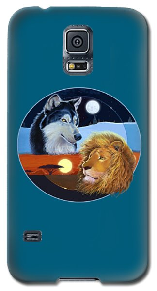 Galaxy S5 Case featuring the mixed media Celestial Kings Circular by J L Meadows
