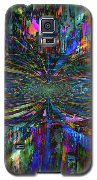 Galaxy S5 Case featuring the painting Central Swirl by Kathy Sheeran