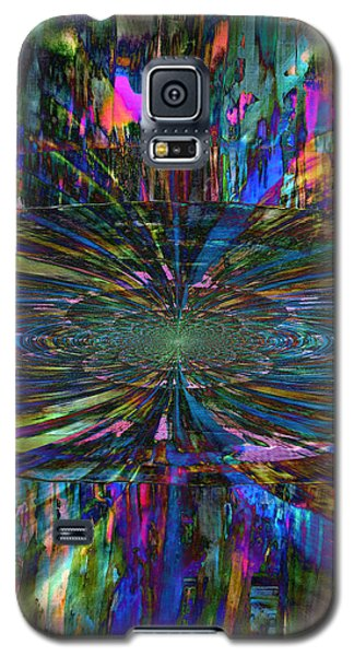 Central Swirl Galaxy S5 Case by Kathy Sheeran
