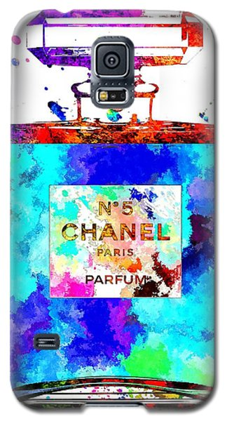 Chanel No. 5 Grunge Galaxy S5 Case by Daniel Janda