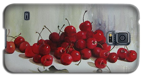 Galaxy S5 Case featuring the painting Cherries by Elena Oleniuc