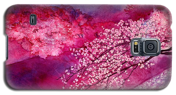 Galaxy S5 Case featuring the painting Cherry Blossoms by Hailey E Herrera