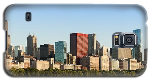 Chicago Downtown At Sunrise Galaxy S5 Case by Semmick Photo