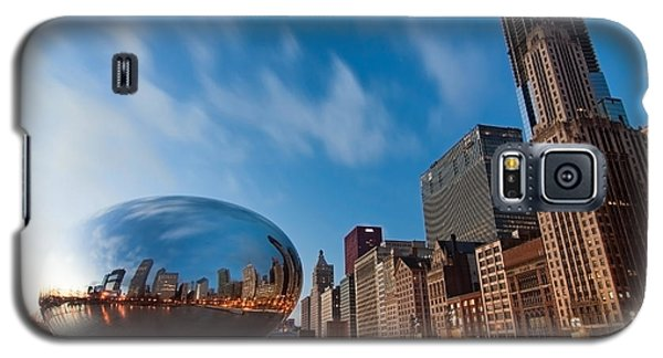 Chicago Skyline And Bean At Sunrise Galaxy S5 Case