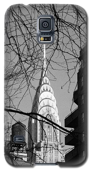 Chrysler Building And Tree Galaxy S5 Case by Dave Beckerman