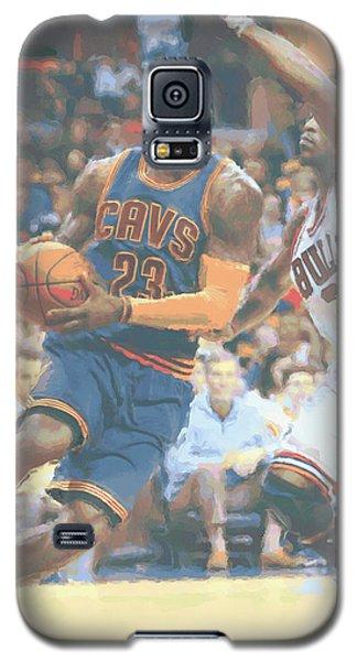 Cleveland Cavaliers Lebron James 2 Galaxy S5 Case by Joe Hamilton