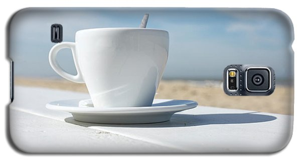 Galaxy S5 Case featuring the photograph Coffee On The Beach by Patricia Hofmeester