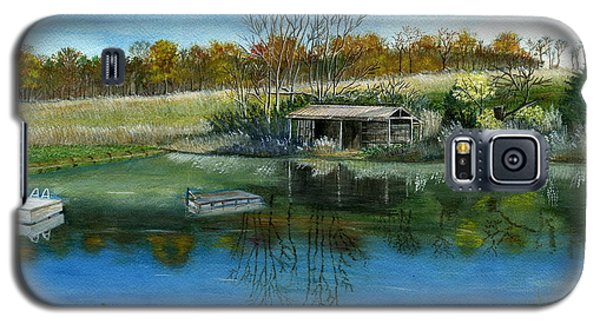 Galaxy S5 Case featuring the painting Cole Hill Pond by Melly Terpening