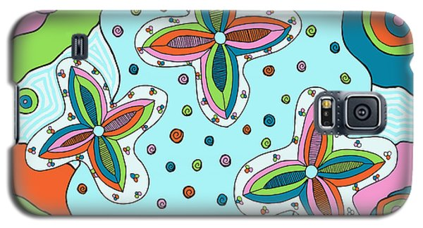 Galaxy S5 Case featuring the drawing Color Collision by Jill Lenzmeier