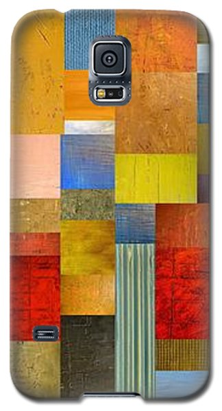 Color Panels With Green Grass Galaxy S5 Case