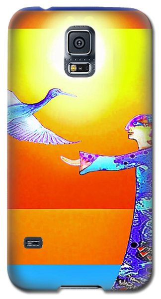 Galaxy S5 Case featuring the painting Colorful Friends by Hartmut Jager