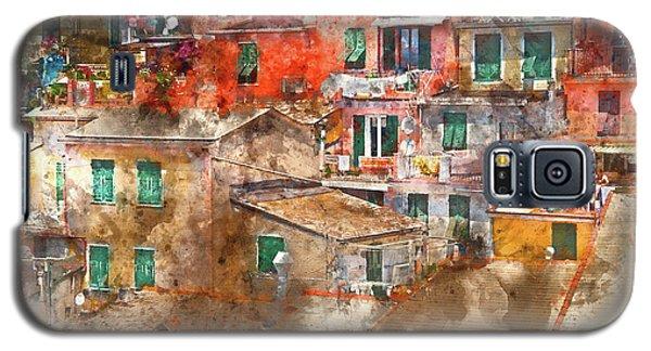 Colorful Homes In Cinque Terre Italy Galaxy S5 Case