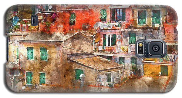 Colorful Homes In Cinque Terre Italy Galaxy S5 Case